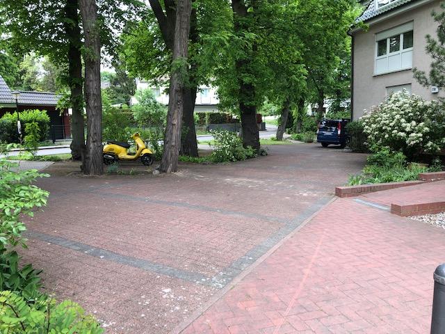 Gartenpflegeservice Parkplatzreinigung im Herbst